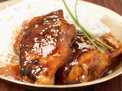blancs de poulet sauce miel et balsamique facile recette sur cuisine actuelle