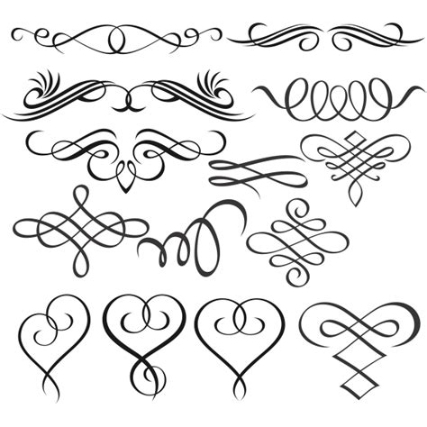 ✓ free for commercial use ✓ high quality images. Accents Scrolls Hearts Svg Cuttable Designs