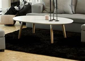 Table Basse Design Bois : table basse design en bois laqu blanc best mobilier priv ~ Teatrodelosmanantiales.com Idées de Décoration