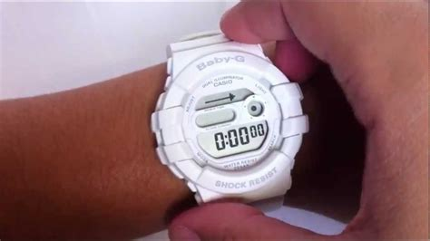 White Casio Baby-g Digital Watch Bgd140-7a