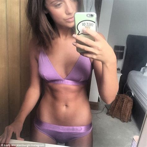 Lucy Mecklenburgh Poses In Purple Lingerie Set As She