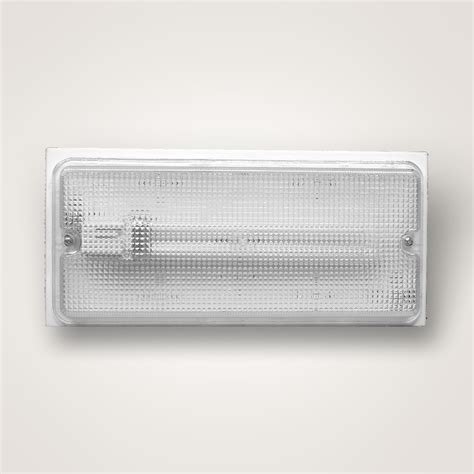 wall or ceiling small fluorescent light fixture with clear