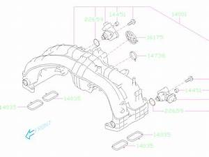 2019 Subaru Impreza Manifold Complete Intake  Engine