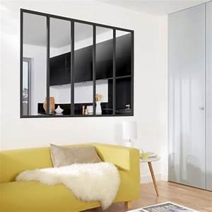 deco verriere salon With meuble pour separation de piece 6 une separation de style loft pour la chambre leroy merlin