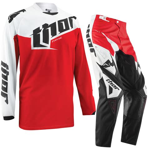 kids motocross jersey thor phase 2015 youth tilt red enduro junior kids mx pants
