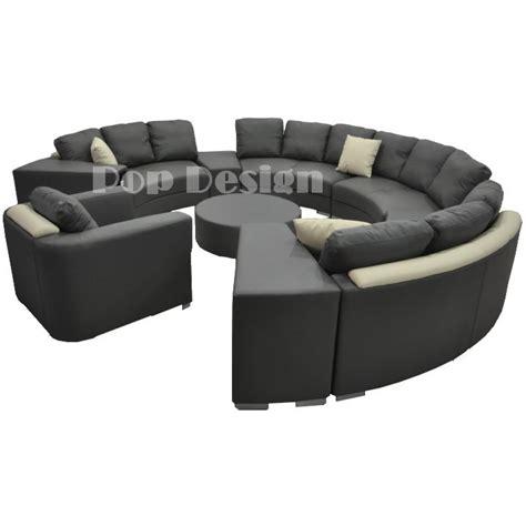 canapé rond but canapé rond en cuir alicante 3 modules 3 places pop