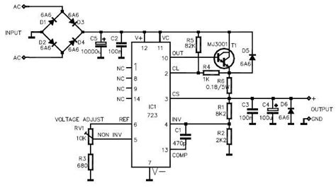 Variable Power Supply Circuit Design Electronic Project