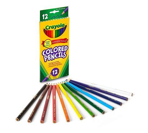 crayola coloring pencils crayola colored pencils assorted colors pre sharpened