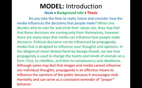 introduction body paragraphs ms hunters classroom