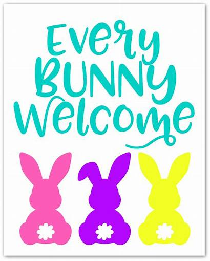 Welcome Bunny Printable Every Easter Happy Bunnies