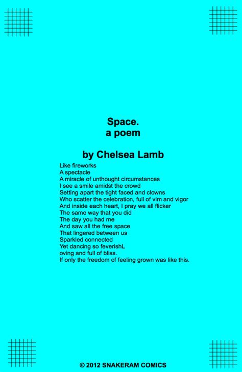 stripgeneratorcom space  poem