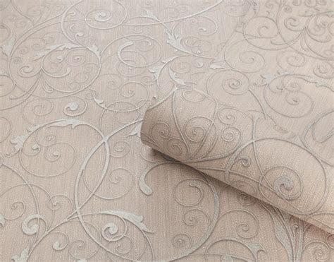 belgravia seriano wallpaper rossini blush silver