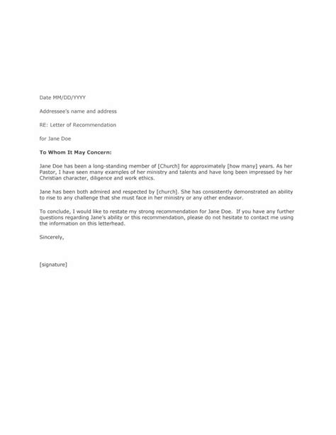 template letter of recommendation 43 free letter of recommendation templates sles