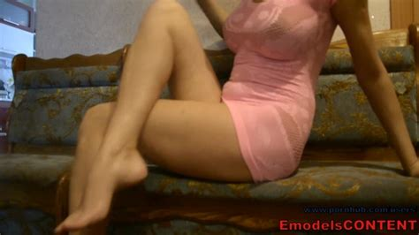 Hot Wife Milf In Pink Slutty Short Dress Masturbation On Real Homemade Tape