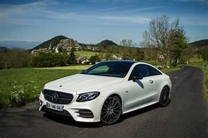 Mercedes Classe C Blanche : la mercedes benz e 400 en version coup et 4matic l 39 essai ~ Gottalentnigeria.com Avis de Voitures