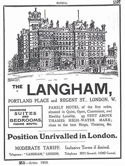 London Langham Hotel 1910 Advertisement