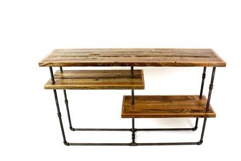 Sideboard Desk by Custom Galvy Industrial Console Reclaimed Wood
