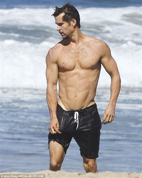 bloom backpack shirtless kwanten almost exposes much as he pulls
