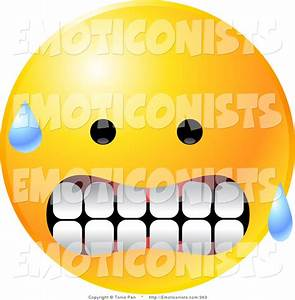 Nervous Smiley Face Clipart