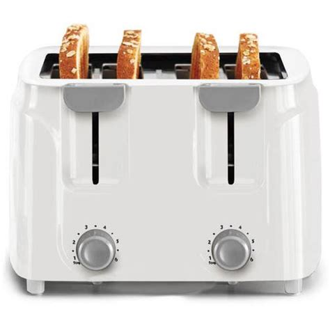 toasters at walmart mainstays 4 slice toaster white walmart