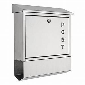 Deutsche Post Briefkasten Kaufen : heibi briefkasten mit zeitungsfach 43835 edelstahl ~ Michelbontemps.com Haus und Dekorationen