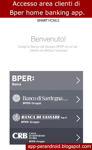 app android bper smart mobile app home banking