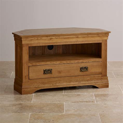 wooden corner tv cabinet french farmhouse corner tv unit solid oak oak