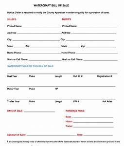 watercraft bill of sale jet ski bill of sale form free forms templates