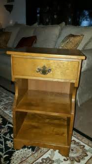 antique end table ethan allen by baumritter maple nightstand end table 1 4129