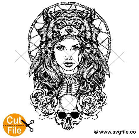 See more ideas about svg, mandala svg, zentangle designs. Wolf Girl Mandala SVG - 0.99 Cent SVG Files - Life Time Access