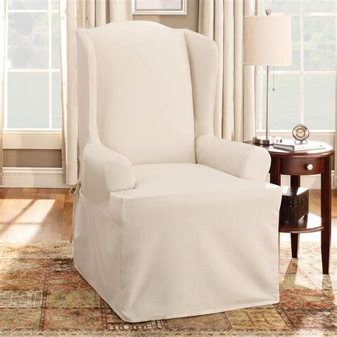 vintage wingback slipcover for wingback chair cotton duck wing chair