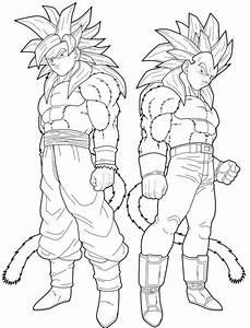 Vegeta And Goku Super Saiyan 4 Coloring Pages Dragon