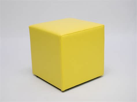 Ottoman Hire by Yellow Cube Seat Faux Leather Club Ottoman Lounge