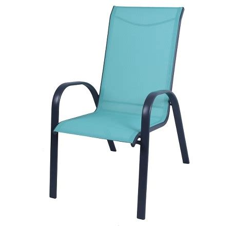 sling stacking patio chair target stack sling patio chair turquoise room essentials target