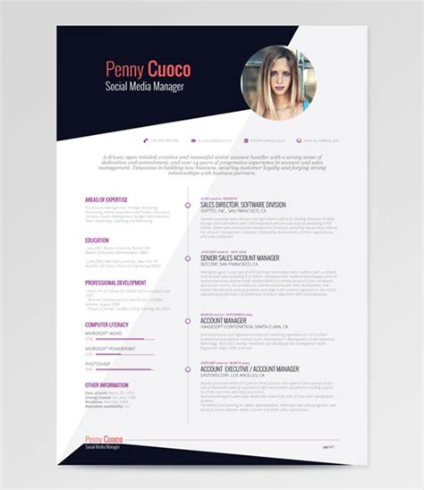 On Line Resumes by 40 Best Free Resume Templates To