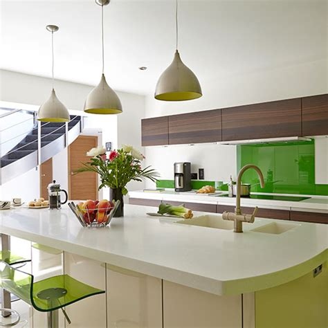 green kitchen accents modern white kitchen with green accents kitchen 1379