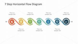 7 Step Powerpoint Horizontal Flow