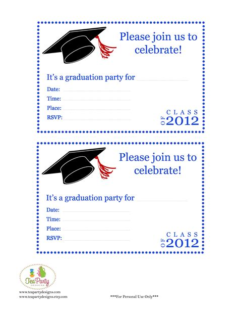 free preschool graduation invitations 892 | free preschool graduation invitations