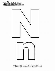 alphabet letter n coloring page a free english coloring With alphabet letter n