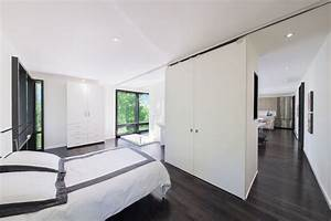 Grey wood flooring bedroom modern with bedroom black and for Rooms with black floors