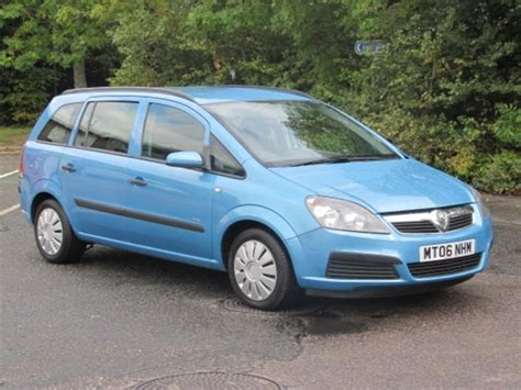 vauxhall blue used vauxhall zafira car 2006 blue petrol for sale in
