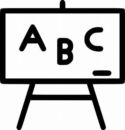 Icon Board Svg Blackboard Class Abc Onlinewebfonts