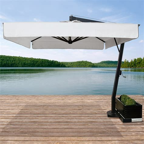 ombrellone per giardino ombrellone da giardino decentrato 4x4 saturno made in italy