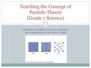 PPT - Teaching the Concept of Particle Theory (Grade 7 ...