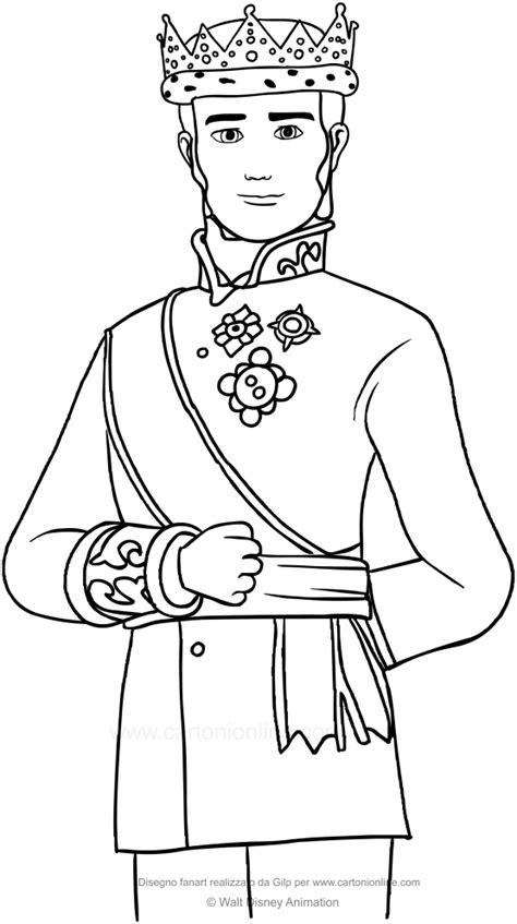 disegni da colorare disney re disegno di re roland ii sofia la principessa da colorare