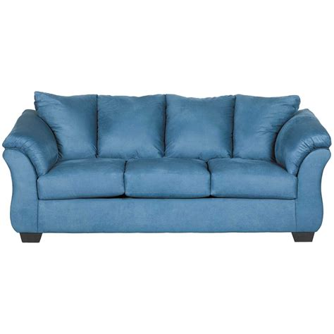 blue settee darcy blue sofa 7500738 furniture afw