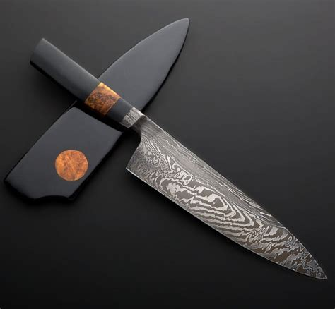nick anger damascus chef knife mm eatingtoolscom