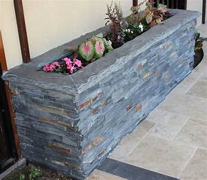 Ledgers Furniture Stone Ledger Planter Box Rustic Exterior Dallas By