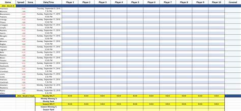 Office Football Pool Website by Excel Office Pool Em Stat Tracker Nfl