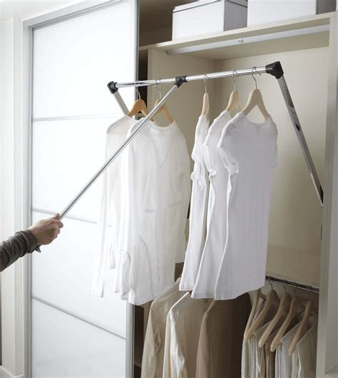 Wardrobe For Hanging Clothes by New Pull Wardrobe Robe Rail Rack Hanger Wardrobe
